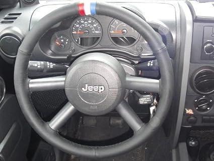 RedlineGoods Jeep Wrangler 2007-10 cubierta del volante de