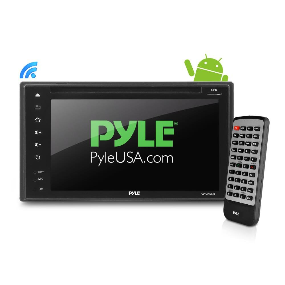 Premium 6In Double-DIN Android Car Stereo Receiver With Bluetooth and GPS Navigation - DVR Dash Cam, Rearview Backup Camera - Touchscreen Display With Wi-Fi Web Browsing And App Download (PLDNAND623) by Pyle