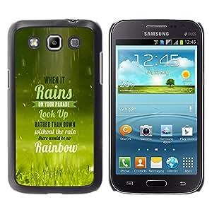 ROKK CASES / Samsung Galaxy Win I8550 I8552 Grand Quattro / WHEN IT RAINS - TYPOGRAPHY / Delgado Negro Plástico caso cubierta Shell Armor Funda Case Cover