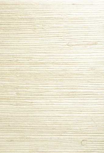 Kenneth James 63-54725 Shuang Grass Cloth Wallpaper, Cream