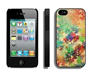 Provide Personalized Customized Colorful Christmas snowflake Black iPhone 4 4S Case 1