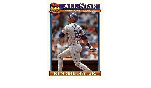 ca8370a60f Amazon.com: 1991 Topps Baseball Card #392 Ken Griffey Jr. Mint:  Collectibles & Fine Art