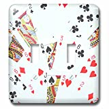 3dRose lsp_112895_2 Playing cards photography deck of cards photo gift for poker bridge and other card game players Double Toggle Switch