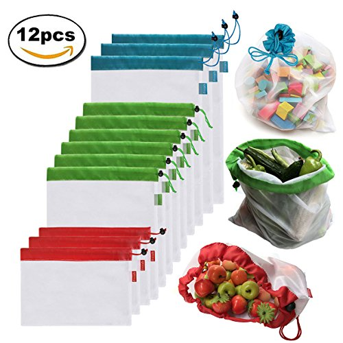 Brotrade Reusable Mesh Produce Bags Washable Eco Friendly Ba