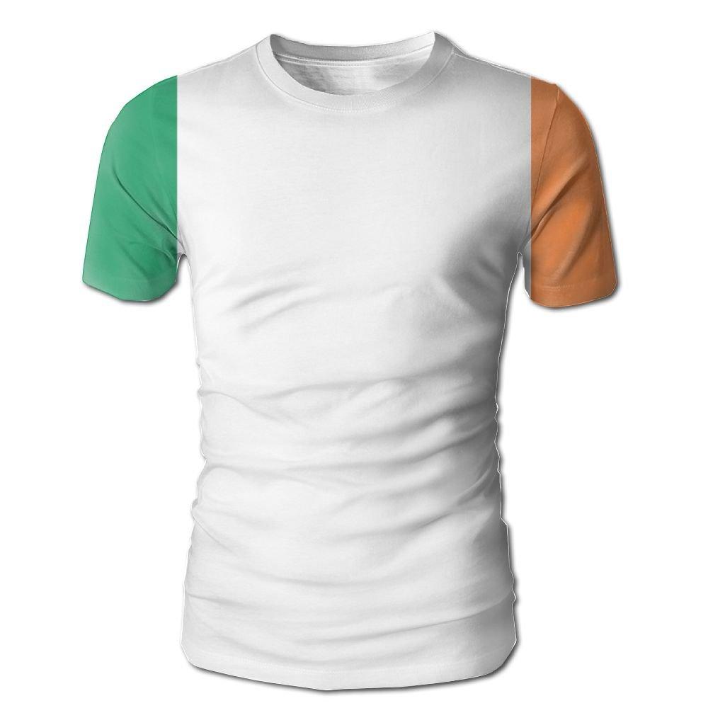 YOIGNG Hawaiian 3D Printed Flag Of Ireland T-Shirt Short Sleeve Crewneck Tee Pullover Casual Tops