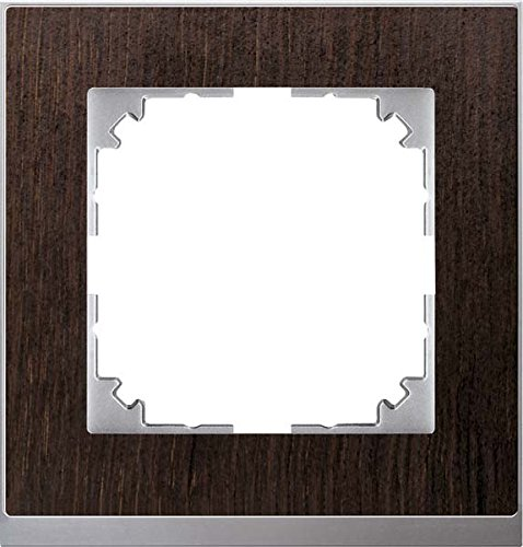 Merten M Pure Decor Frame 1 Compartment Wenge/Aluminium MEG4010 3671