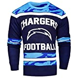 FOCO NFL San Diego Chargers Ugly Glow In The Dark Sweater, Small