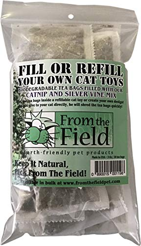 From The Field Fill Or Refilll Your Own Catnip Tea Bags Pack of ()