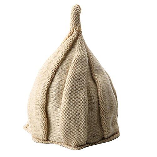 Joyci Creative Lovely Knit Hat Windmill Cap Twisting for Boys Girls Beanie (Beige) ()