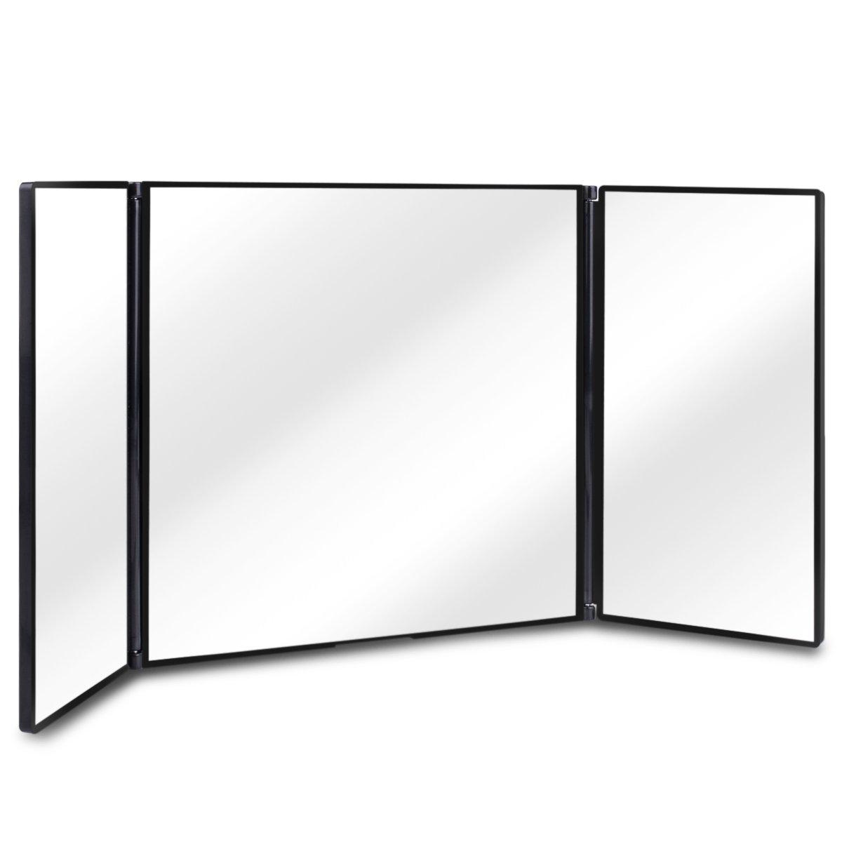 "Sun Visor Vanity Mirror,Huicocy Car Sun Visor Mirror Makeup Vanity Mirror Car Cosmetic Mirror Clip On Sun Visor Auto Supplies 310mm 12"" Universal for Car Truck SUV (12in5.5in, black)"