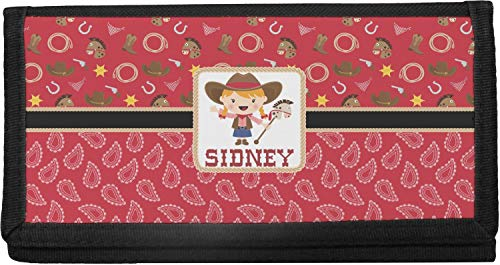 Red Western Canvas Checkbook Cover (Personalized)