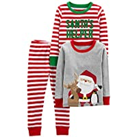 Simple Joys by Carter's Baby, Little Kid, and Toddler Boys' 3-Piece Snug-Fit Cotton Christmas Pajama Set