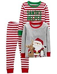 Simple Joys by Carter's Juego de Pijama de Navidad de algodón de 3 Piezas Juego de Pijama para Niños