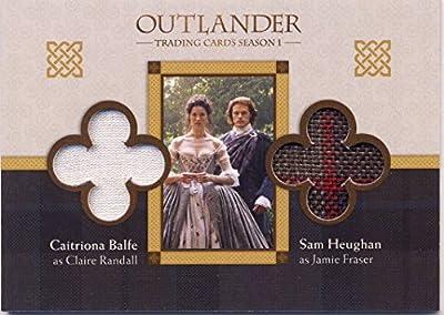 2016 Outlander Season 1 Trading Cards Wardrobe Card DM6 Sam Heughan as Jamie Fraser, Caitriona Balfe as Claire Randall
