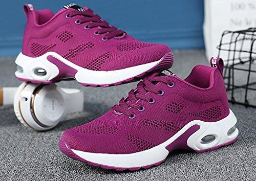 Damen Laufschuhe Straßenlaufschuhe Leichte Violett Turnschuhe MakeBetter Atmungsaktiv Luftkissen Schuhe Sportschuhe fcHWwcdqF