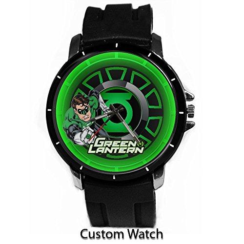 DC+Comics+Watch Products : Dc Comic Superhero Green Lantern Cartoon Custom Watch Rubber Band Wrist Watch
