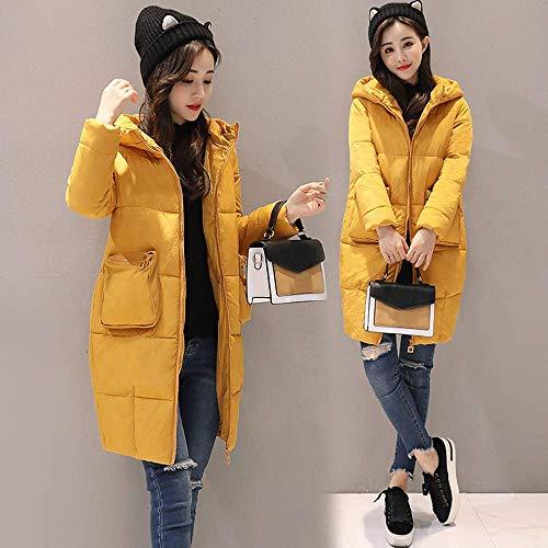 Abrigos Aire Ocio Mujer Gruesa Invierno Tamaño Cálido Delgada Falsa Xx Abrigo Para Amarillo Libre large Color Chaqueta De Damas Moda Piel Al qpAFZxF7w