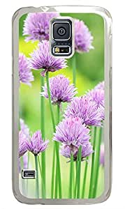 Samsung Galaxy S5 Natural Pink Flower Beautiful PC Custom Samsung Galaxy S5 Case Cover Transparent