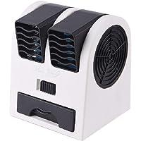 BXT Portable Air Conditioner Fan Dual Bladeless Safe Mini Personal Fan Battery Powered/USB Recharging Table Desktop Fan…