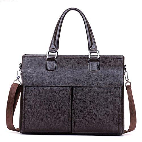 KEVIN Bolsos para Hombres Bolsas para Hombres Bolsas Verticales,Black Brown