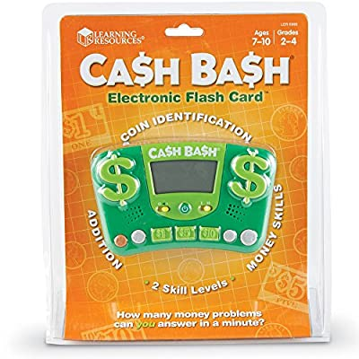 Learning Resources Cash Bash Electronic Flash Card: Toys & Games