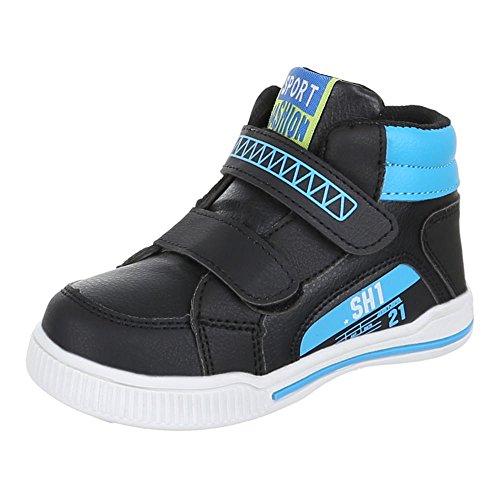 Kinder Schuhe, 712-19, FREIZEITSCHUHE SPORTLICHE SNEAKERS Schwarz