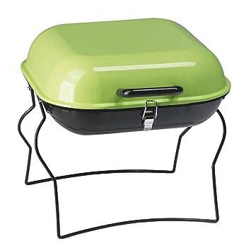 BARBACOA Parrilla Al Aire Libre Portátil Plegable Barbacoa Estufa Móvil Grill Simple Mini Barbacoa Estufa Verde