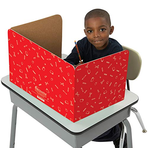 (Really Good Stuff Jr. Privacy Shields for Student's Desks - Keeps Their Eyes on Their Own Test/Assignments (Matte (12 Shields),)