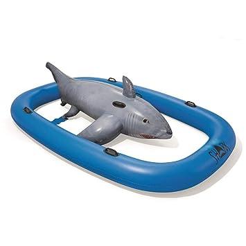 LCYCN Flotador Juguete Hinchable para Piscina,Giant Shark Modelo ...