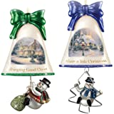 Christmas Ornaments: Thomas Kinkade Ringing In The Holidays Ornament Set: Set 7 by The Bradford Exchange For Sale