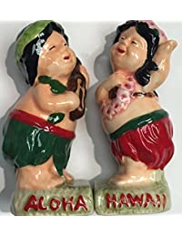PickUp Salt And Pepper Shakers Collection Hula Boy/Girl Play Ukulele discount