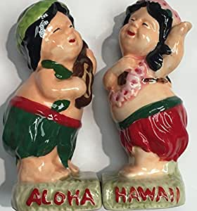 Salt And Pepper Shakers Collection Hula Boy/Girl Play Ukulele
