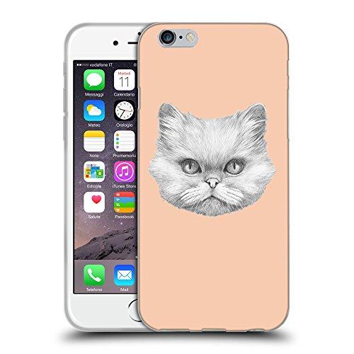 "GoGoMobile Coque de Protection TPU Silicone Case pour // Q05330604 chat persan Abricot // Apple iPhone 6 4.7"""
