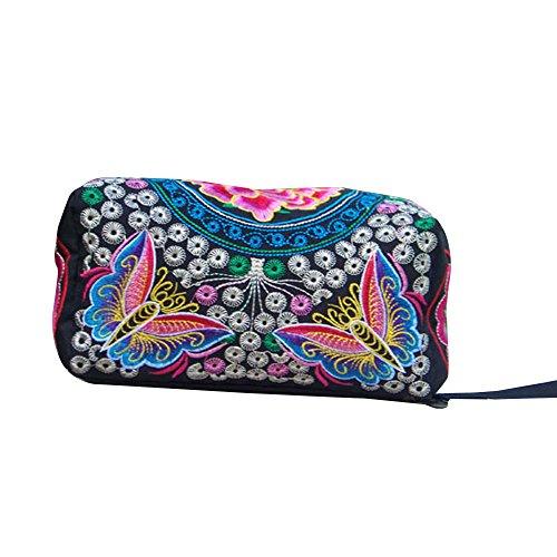 Hot Sale Coin Purse,AmyDong Women Embroidered Wallet Wristlet Clutch Bag Vintage Coin Purse Key Holder (Pink)