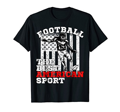 - USA American Flag Football The Best American Sport T-shirt