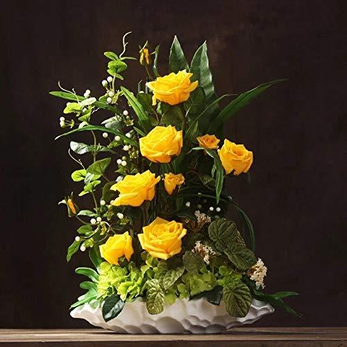 造花インテリア 雑貨 花束 インテリアフラワー お部屋の装飾 フラワーポット入り 造花ブーケ ホテルフロント 応接室.最適、とても豪華です B07QGP5MJ2