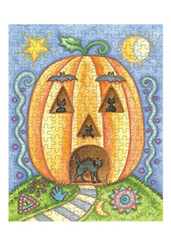 Pumpkin House Halloween Picture Jigsaw Puzzle Print 252 Pieces