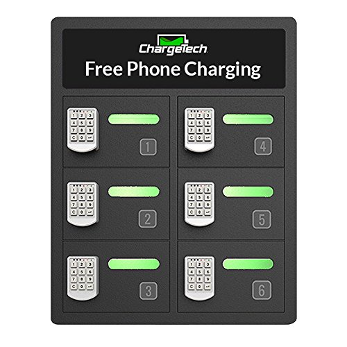 How To Charge A Car Battery Without A Charger >> Secure Cell Phone Charging Station Locker w/ Locking Bays & Universal Charging Tips Included for ...