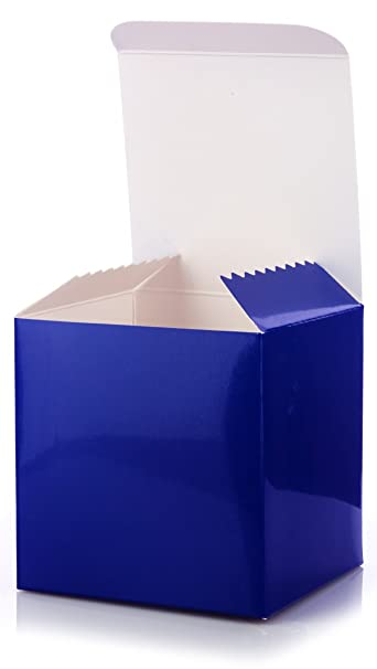 Amazon Com 12 Pack Of Small Square High Gloss Royal Blue Gift Boxes
