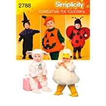 Simplicity Sewing Pattern 2788 Toddler Costumes, A (1/2-1-2-3-4)