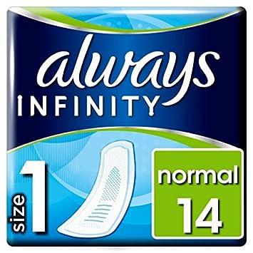 Always Infinity con alas Toallas sanitarias no 14 por paquete: Amazon.es: Salud y cuidado personal