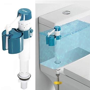 Válvula de descarga, válvula de grifo para inodoro, flotador ajustable con botón de presión y válvula de agua: Amazon.es: Hogar