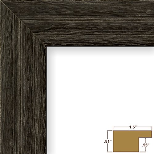 Craig Frames 1.5DRIFTWOODBK 24 by 36-Inch Picture Frame, Wood Grain Finish, 1.5-Inch Wide, Weathered Black (Poster Wire)