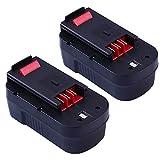 18V 2.0Ah Replace Battery for Black and Decker HPB18 HPB18-OPE 244760-00 FS18FL FSB18 Firestorm Power Tool 2-pack
