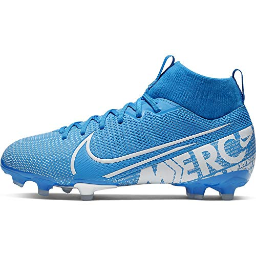 Nike Jr. Mercurial Superfly 7 Academy MG Kids' Multi-Ground Soccer Cleat (1, Blue Hero/Obsidian/White) (Mercurial Shoes Football Nike)