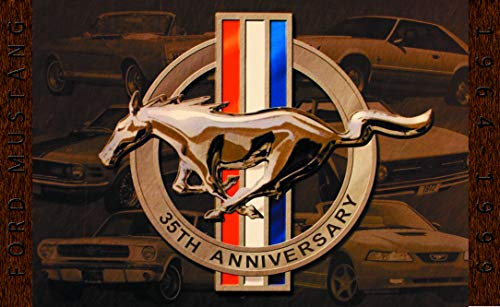 New Ford Mustang 35th Anniversary 3x5 ft Flag Banner