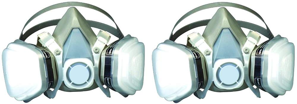 3M Dual Cartridge Respirator Assembly, Large (2 Pack)