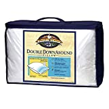 GoLinens Pacific Coast Double DownAround Down Cotton Pillows with AllerRest Fabric (Medium Firmness Density/Allergy Free/Great for Back & Stomach Sleepers) - King
