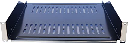 "19/"" 1U 8/"" Deep Vented 1 Space Cantilever Keyboard Server Data Rack Mount Shelf"