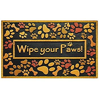 this item outdoor shoe scraper wipe paws doormat recycled rubber heavy duty waterproof absorbent large patio entryway exterior porch rug welcome mats for